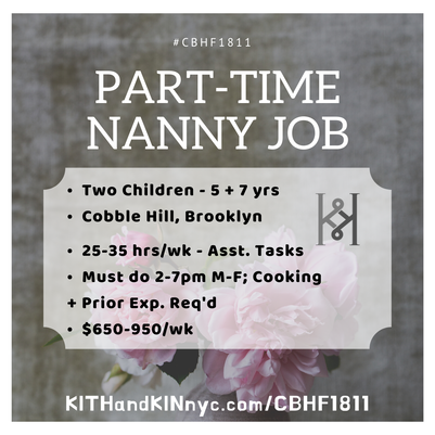 part-time nanny brooklyn